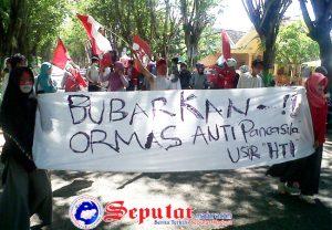 GMNI Sumenep Aksi Damai Desak Polres Boikot Kegiatan HTI